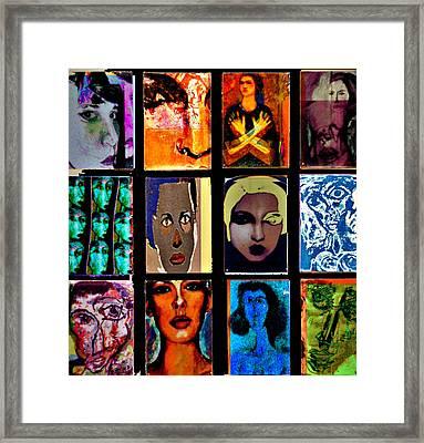 Re-arrangement Framed Print by Noredin Morgan