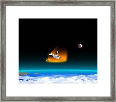 Re-entry Framed Print by Joe Roselle
