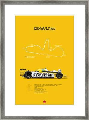 Renault Rs10 1979 Rene Arnoux Framed Print