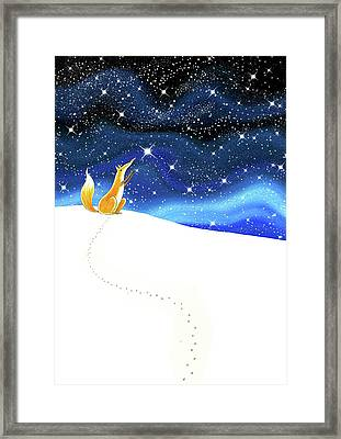 Reach  Framed Print by Andrew Hitchen