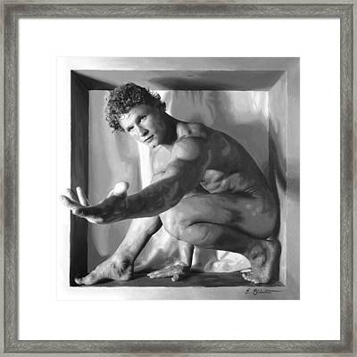 Reach Framed Print by E Gibbons