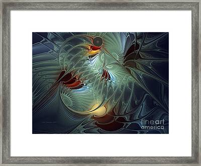 Framed Print featuring the digital art Reach For The Moon by Karin Kuhlmann