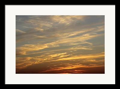Colorful Cloud Formations Digital Art Framed Prints