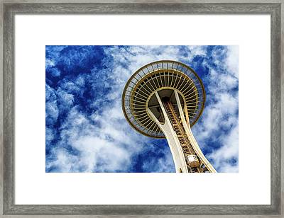 Reach For The Sky - Seattle Space Needle Framed Print by Stephen Stookey