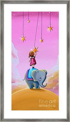 Reach For The Stars - Remixed Framed Print