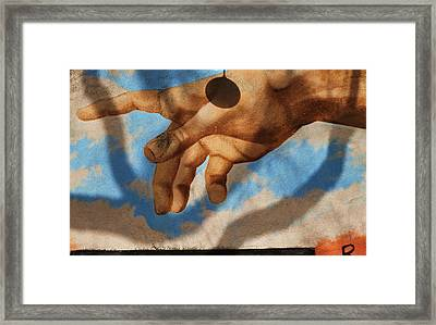 Reach Out Beverly Hills Framed Print by Todd Sherlock