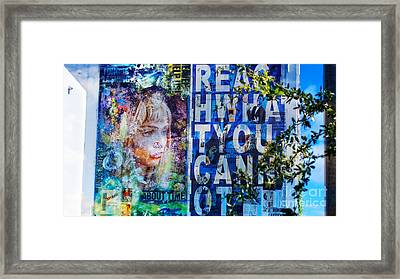 Reach What You Can Not Framed Print by Dieter Lesche