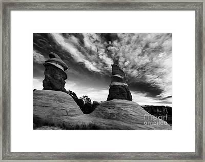 Reaching For The Clouds Framed Print by Mike Dawson