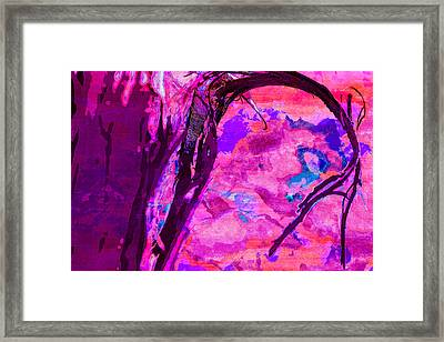 Reaching Beyond The Blue Framed Print by Samantha Thome