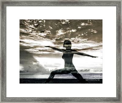 Reaching For Sunset Framed Print