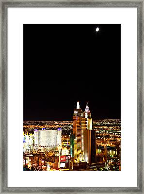 Reaching For The Half Moon Framed Print by James Marvin Phelps