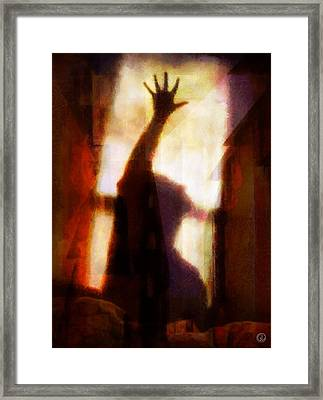 Framed Print featuring the digital art Reaching For The Light by Gun Legler