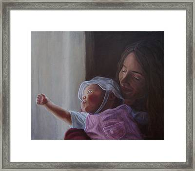 Reaching For The Light Framed Print by Tahirih Goffic