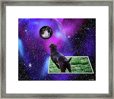 Reaching For The Moon Framed Print by Roger Wedegis