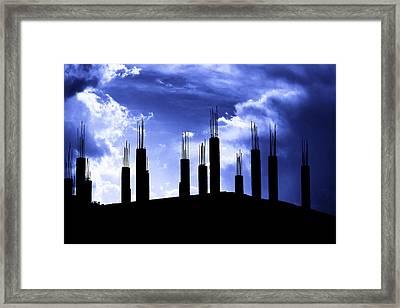 Pillars In The Sky Framed Print
