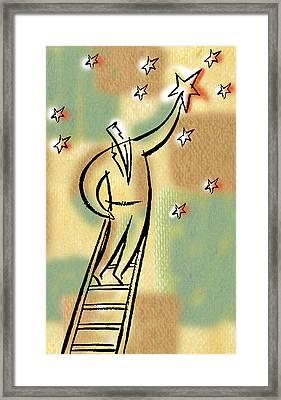 Reaching For The Star Framed Print by Leon Zernitsky