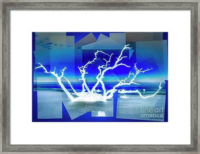 Reaching For You Driftwood Beach Jekyll Island Art Framed Print