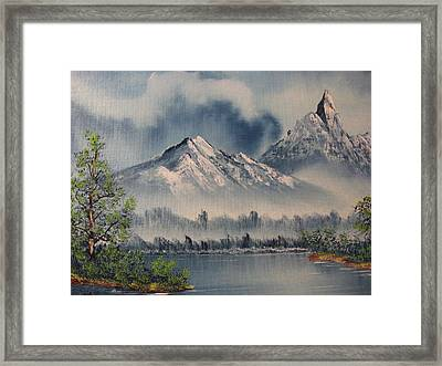 Framed Print featuring the painting Reaching Higher 2 by Brian Johnson