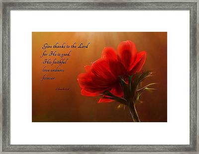Reaching Inspiration Framed Print by Mary Jo Allen
