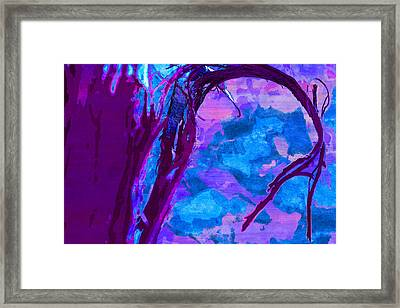 Reaching Into Blue Framed Print
