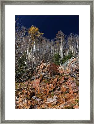 Reaching Into Blue Framed Print by Stephen Anderson
