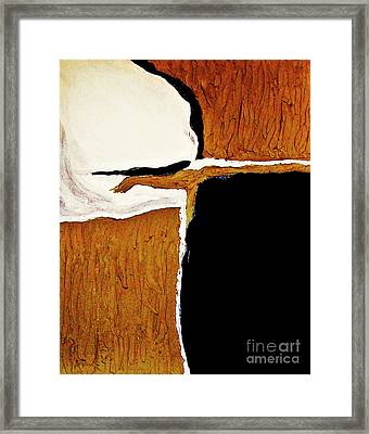Reaching Out In Sienna Framed Print by Marsha Heiken