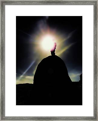 Reaching The Light Framed Print