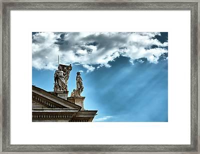 Reaching The Sky Framed Print
