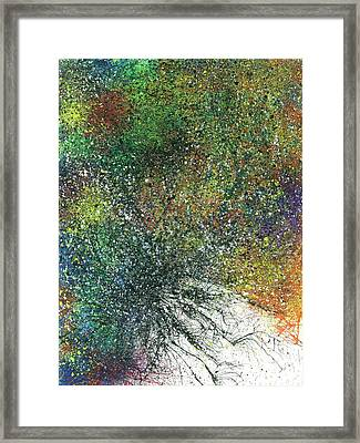 Reaching The Transcendent Realm #574 Framed Print by Rainbow Artist Orlando L aka Kevin Orlando Lau