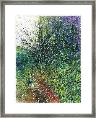 Reaching The Transcendent Realm #576 Framed Print by Rainbow Artist Orlando L aka Kevin Orlando Lau