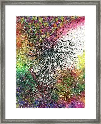 Reaching The Transcendent Realm #578 Framed Print by Rainbow Artist Orlando L aka Kevin Orlando Lau