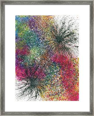 Reaching The Transcendent Realm #579 Framed Print by Rainbow Artist Orlando L aka Kevin Orlando Lau