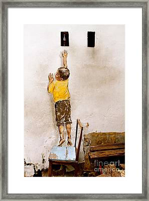 Reaching Up Framed Print by Donald Chen