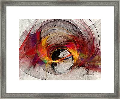 Reaction Abstract Art Framed Print