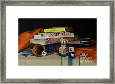 Read To A Dog Framed Print