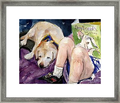 Read To Me Framed Print by Molly Poole