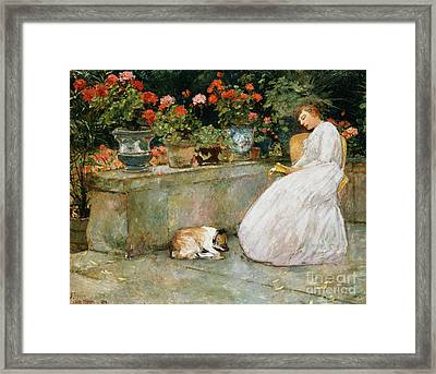 Reading, 1888 Framed Print