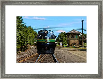 Reading 284  Train Framed Print by Iconic Images Art Gallery David Pucciarelli