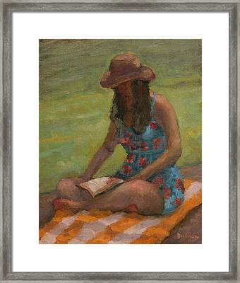 Reading At Jersey Valley Framed Print