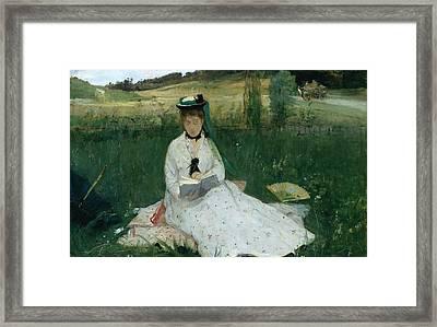 Reading  Framed Print by Berthe Morisot