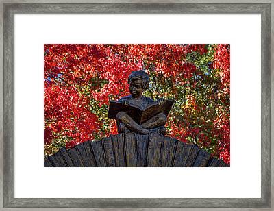 Reading Boy - Santa Fe Framed Print