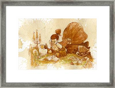 Reading Framed Print by Brian Kesinger