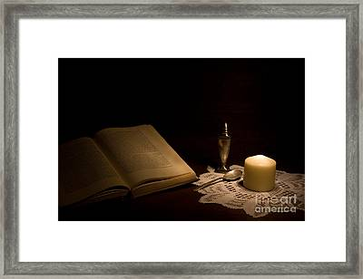 Reading Composition Framed Print by Levin Rodriguez