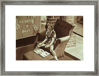 Reading Corner Framed Print by Judy Swerlick