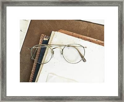 Reading Glasses Framed Print by Tom Gowanlock