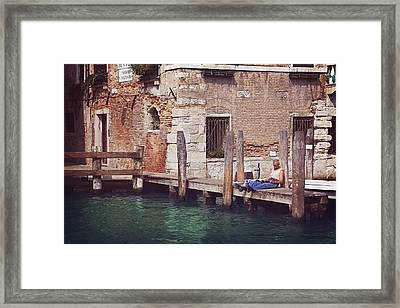 Reading Hour  Framed Print by Carol Japp