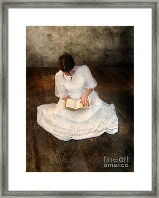 Reading  Framed Print by Jill Battaglia