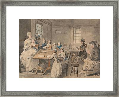 Reading Lesson At A Dame School Framed Print