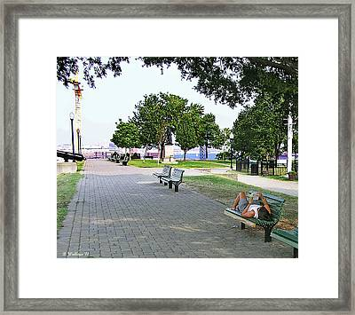 Reading On Federal Hill Framed Print by Brian Wallace