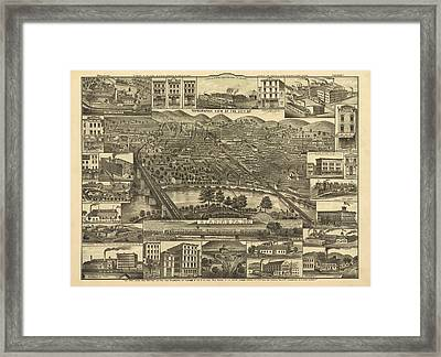 Reading Pennsylvania 1881 Framed Print by Mountain Dreams